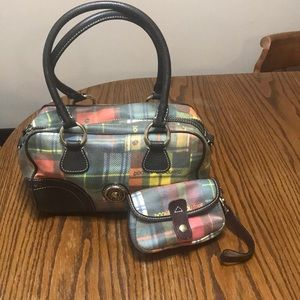 Vintage Plaid Dooney & Bourke Doctor Purse